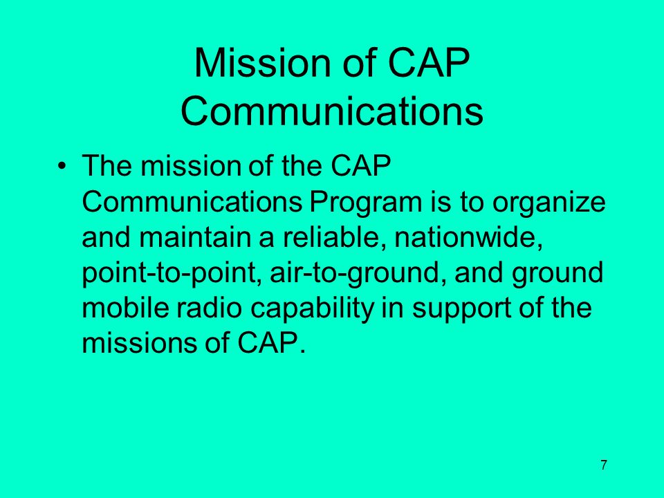 Mission of CAP Communications