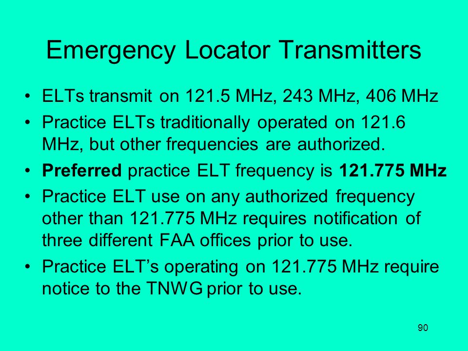 Emergency Locator Transmitters