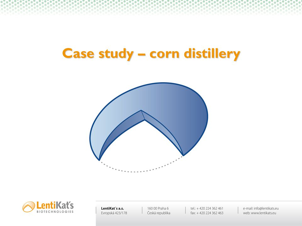 Case study – corn distillery