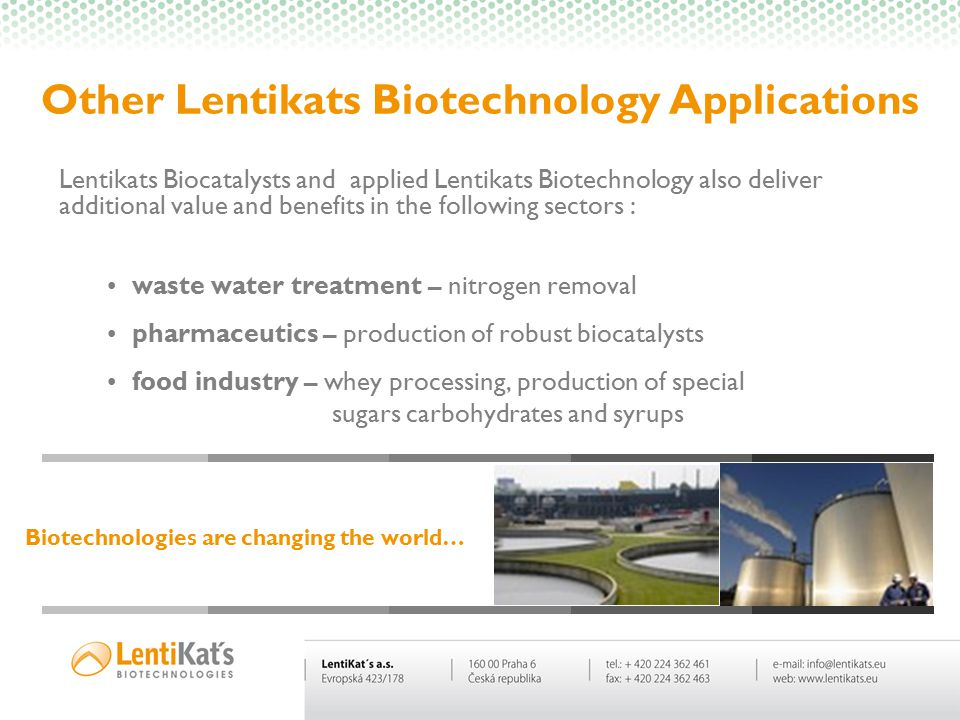 Other Lentikats Biotechnology Applications
