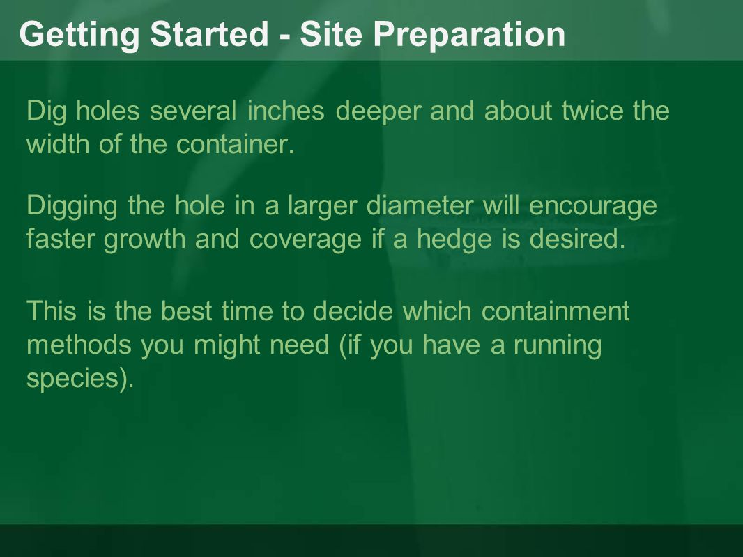 Getting Started - Site Preparation