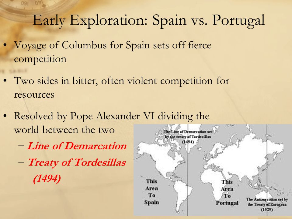 Early Exploration: Spain vs. Portugal