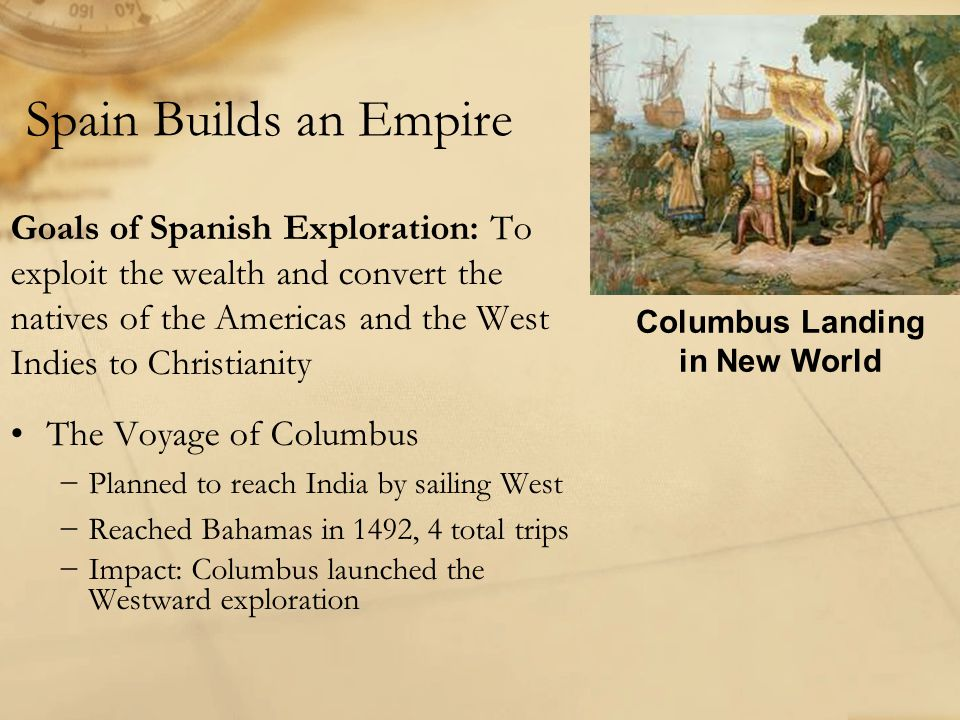 Columbus Landing in New World