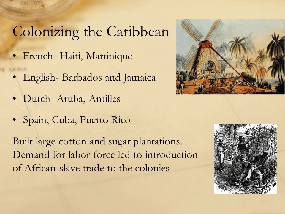 Colonizing the Caribbean