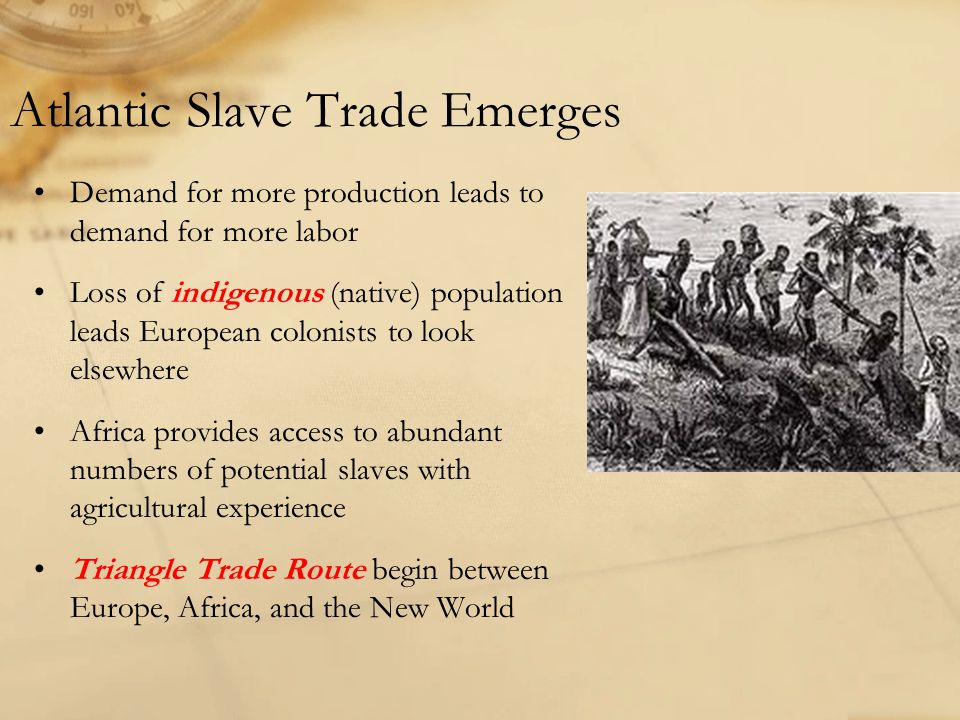 Atlantic Slave Trade Emerges