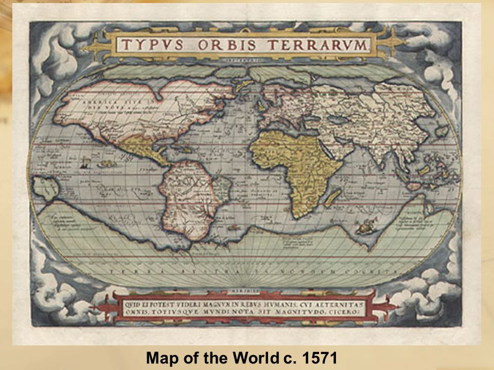 Map of the World c. 1571