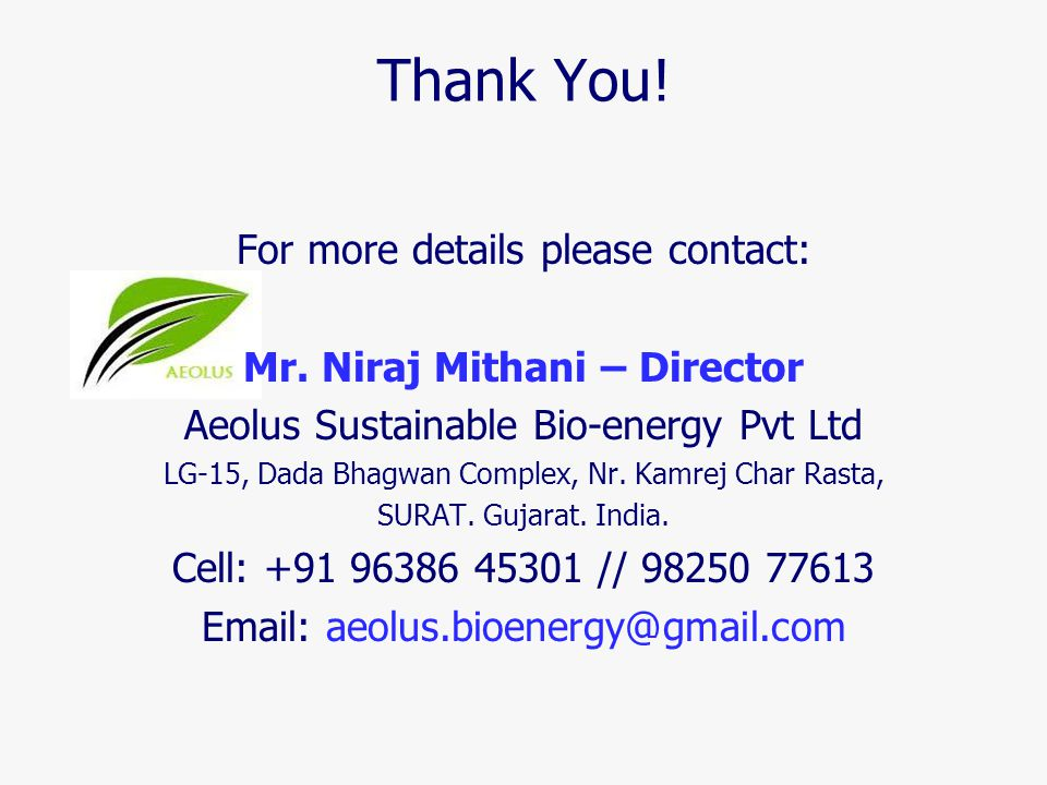 Mr. Niraj Mithani – Director