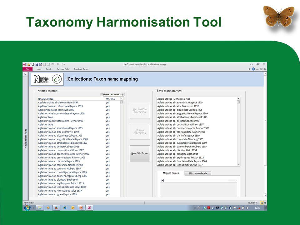 Taxonomy Harmonisation Tool