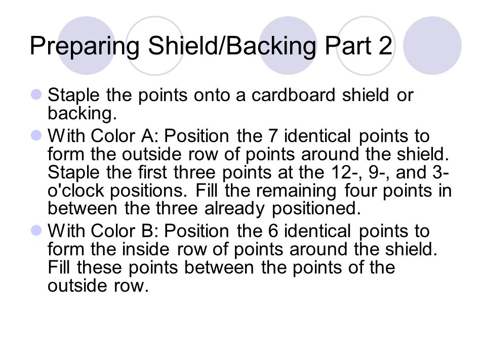 Preparing Shield/Backing Part 2