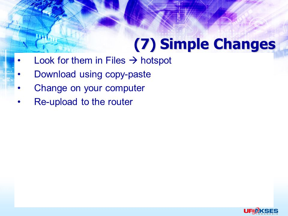 (7) Simple Changes Look for them in Files  hotspot