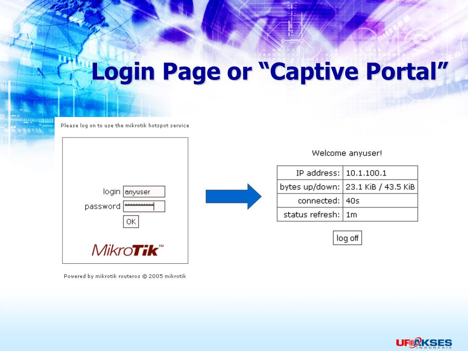 Login Page or Captive Portal