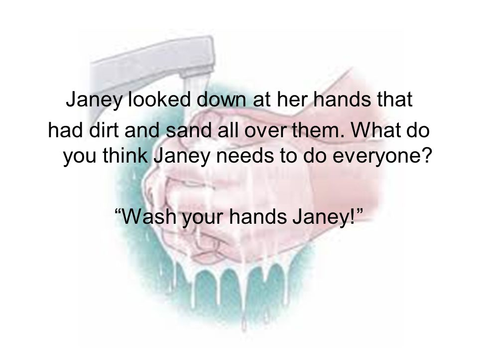 Janey looked down at her hands that