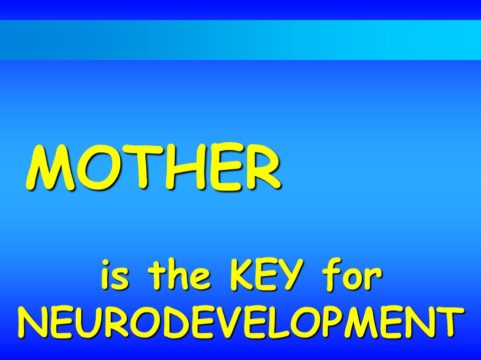 MOTHER is the KEY for NEURODEVELOPMENT