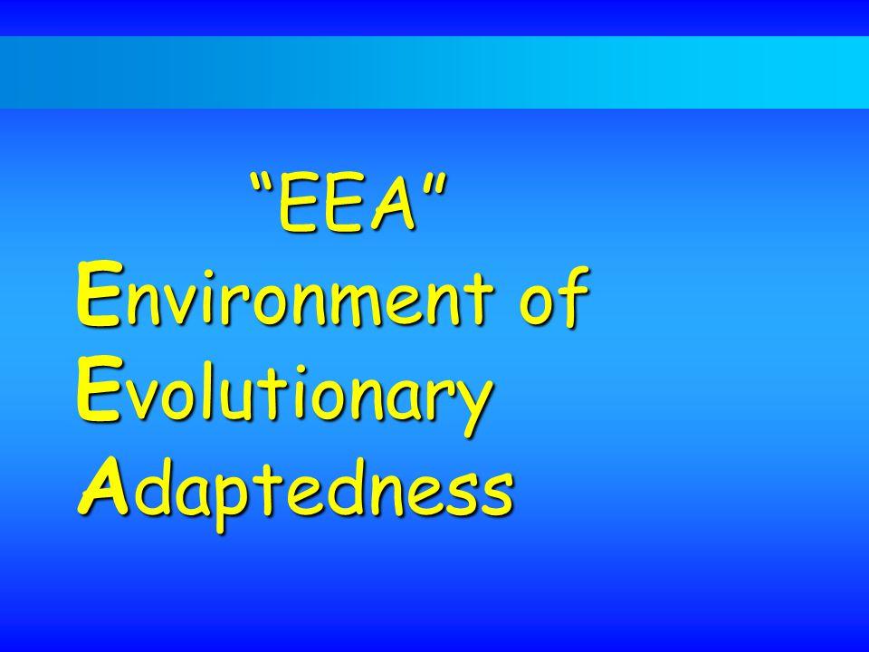 EEA Environment of Evolutionary Adaptedness