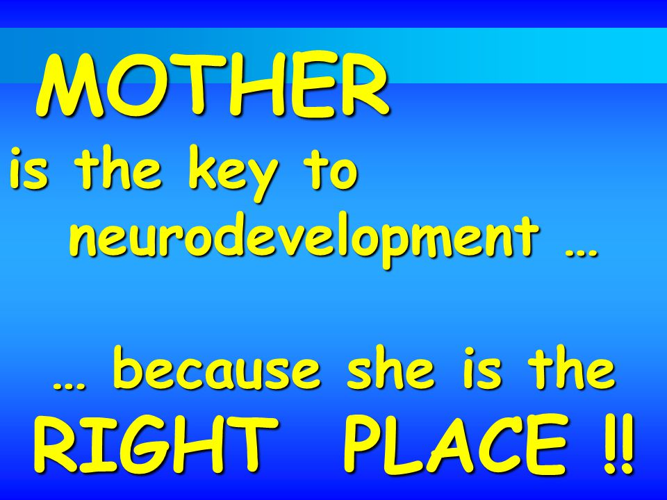 … because she is the RIGHT PLACE !!