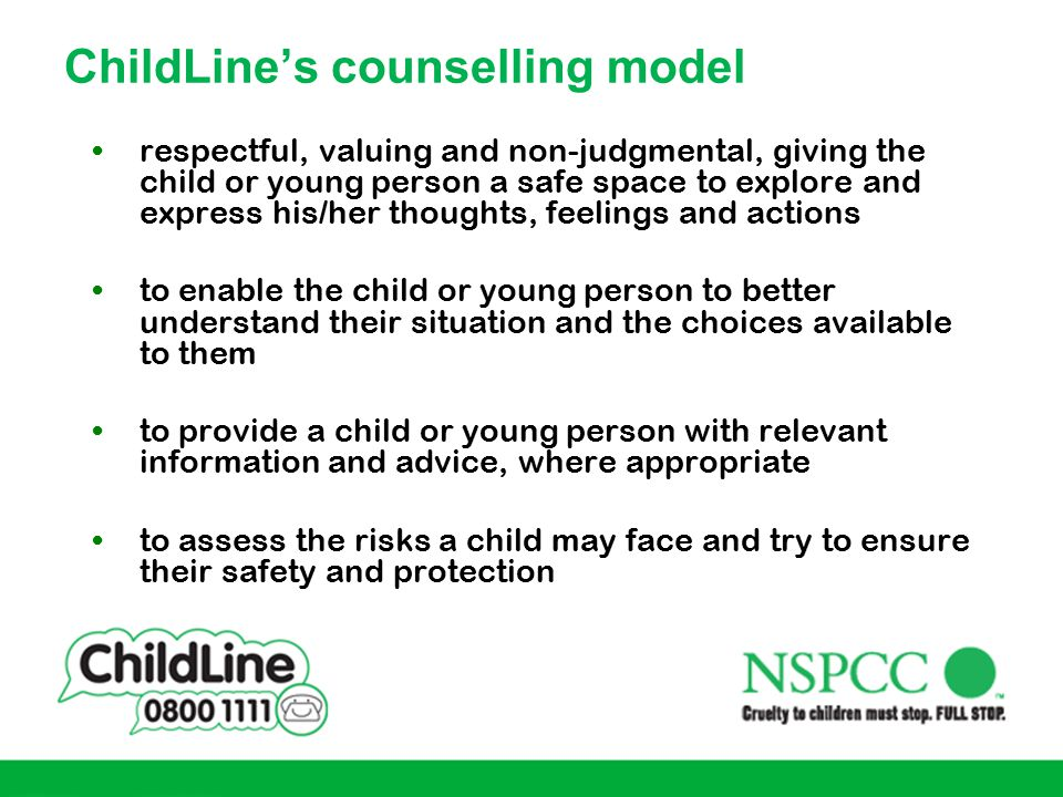 ChildLine's counselling model