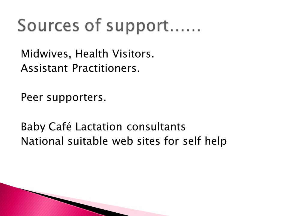 Sources of support……