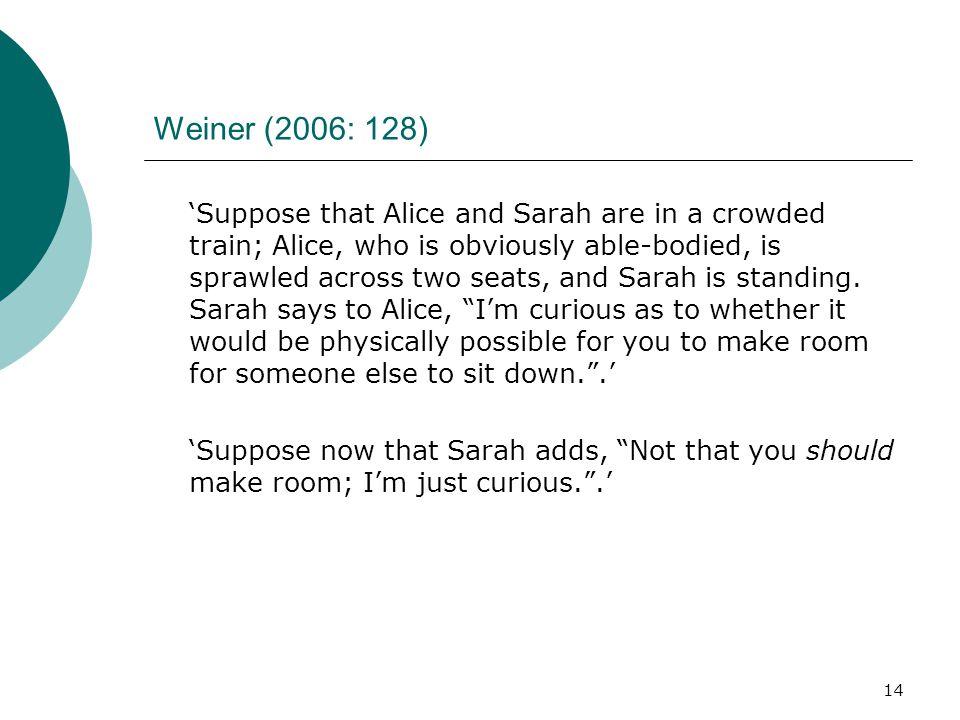 Weiner (2006: 128)