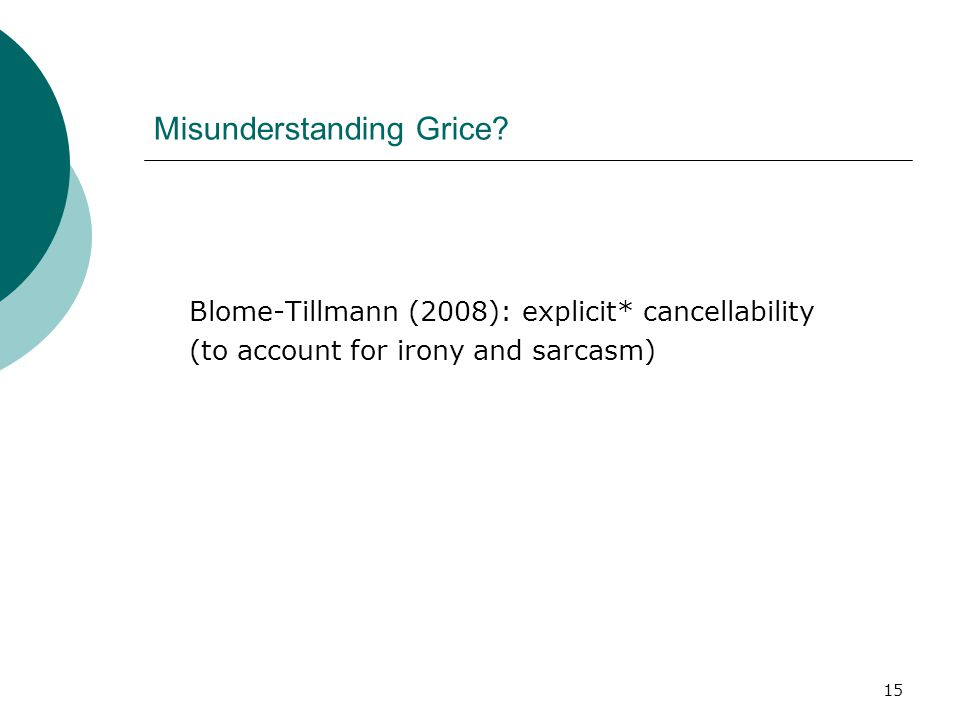 Misunderstanding Grice