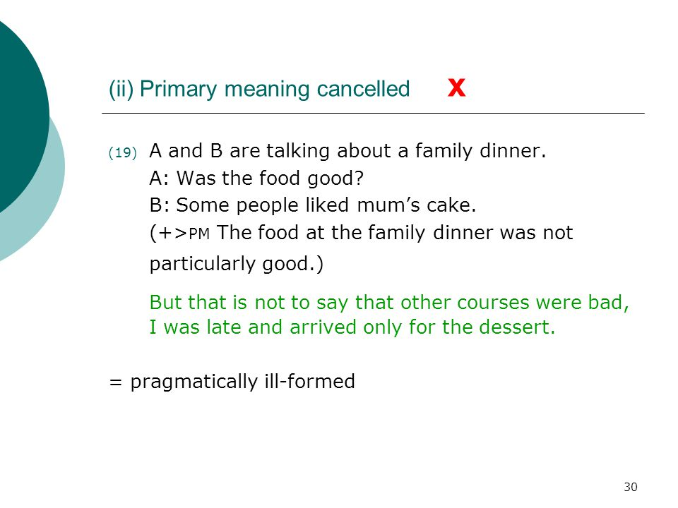 (ii) Primary meaning cancelled x