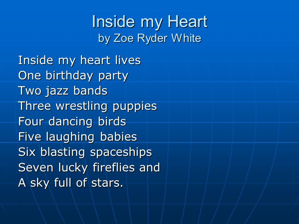Inside my Heart by Zoe Ryder White