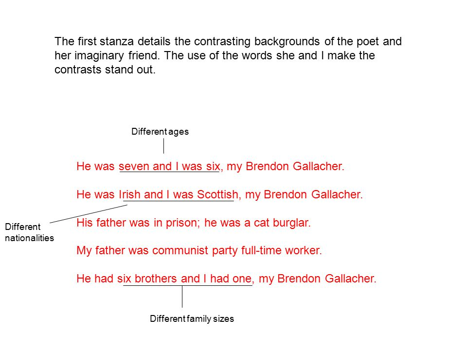 He was seven and I was six, my Brendon Gallacher.