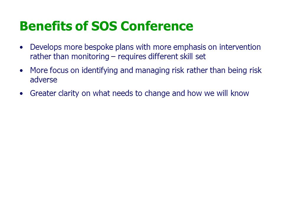 Benefits of SOS Conference