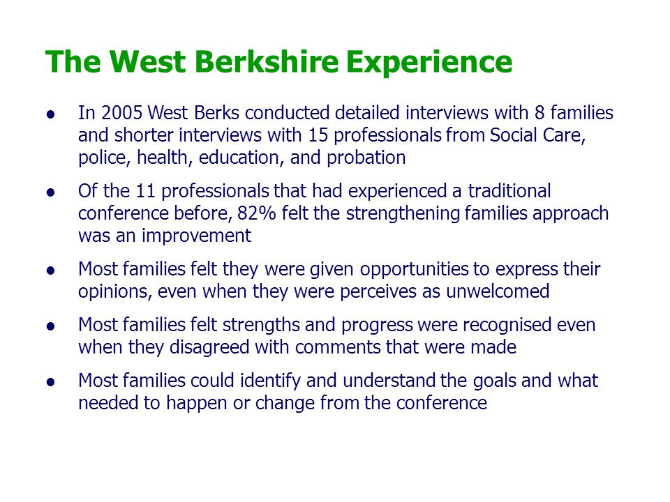 The West Berkshire Experience