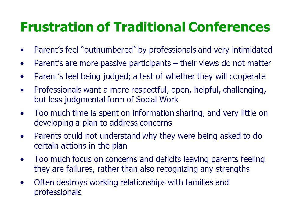 Frustration of Traditional Conferences