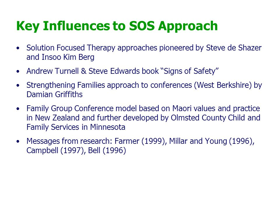Key Influences to SOS Approach