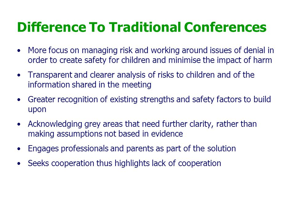 Difference To Traditional Conferences