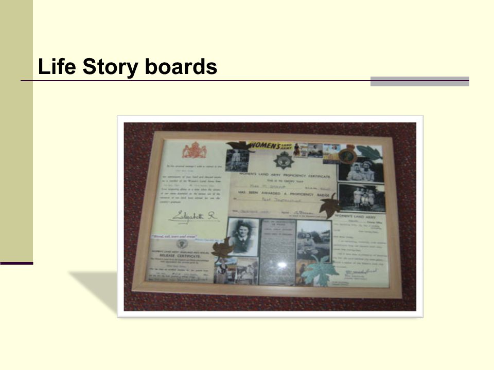 Life Story boards