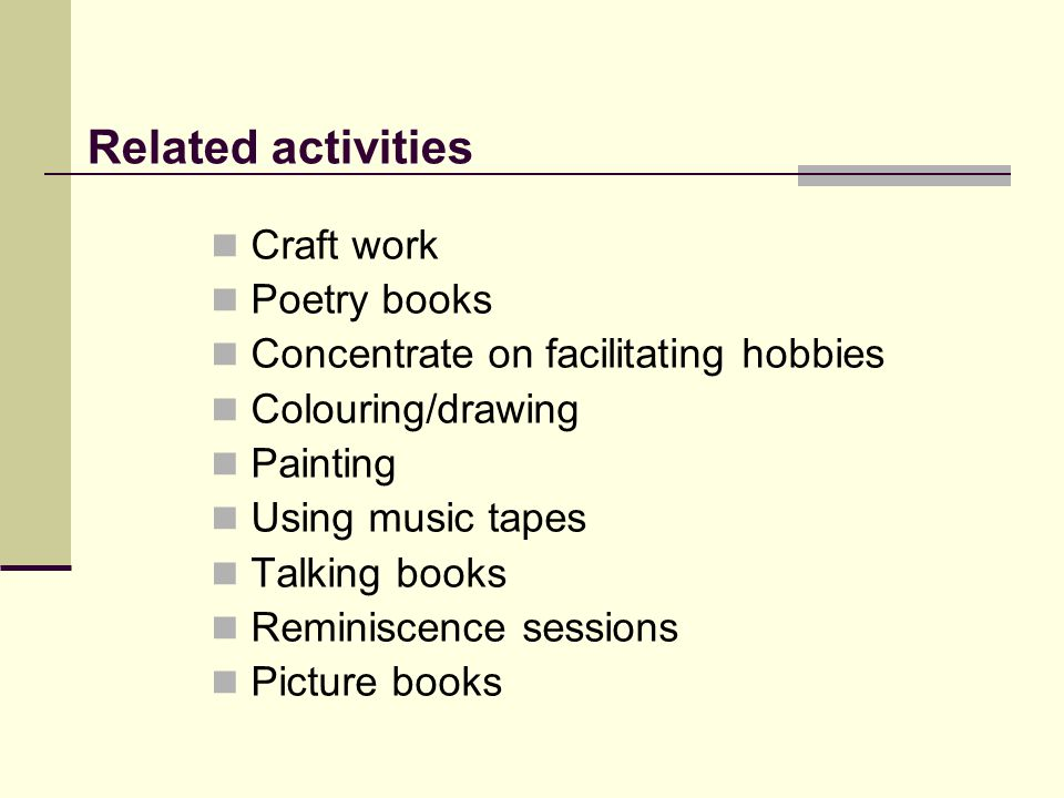 Related activities Craft work Poetry books