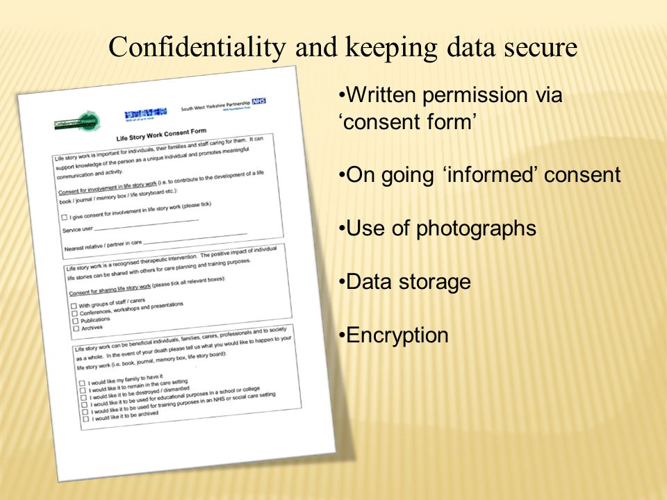 Confidentiality and keeping data secure