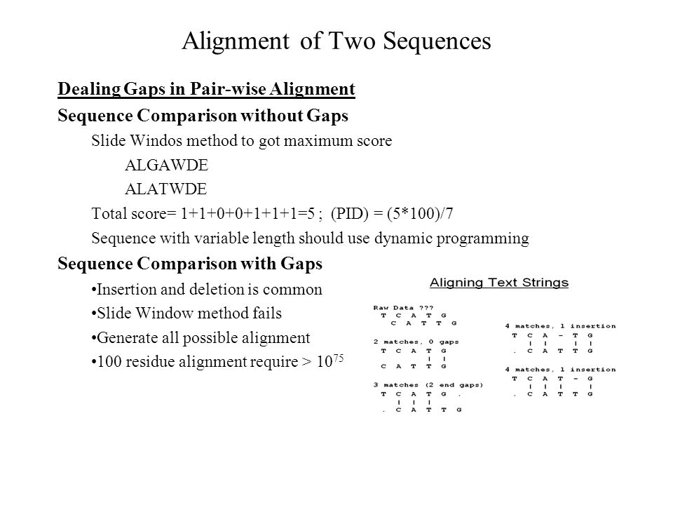 Alignment of Two Sequences