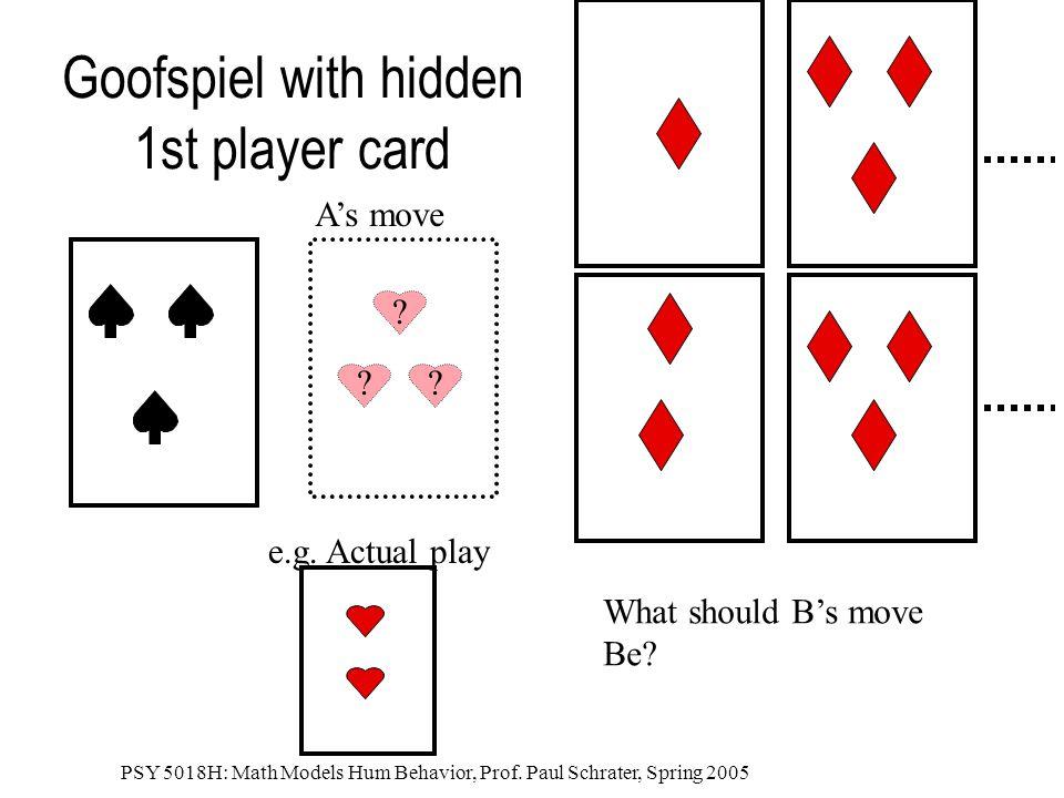 Goofspiel with hidden 1st player card
