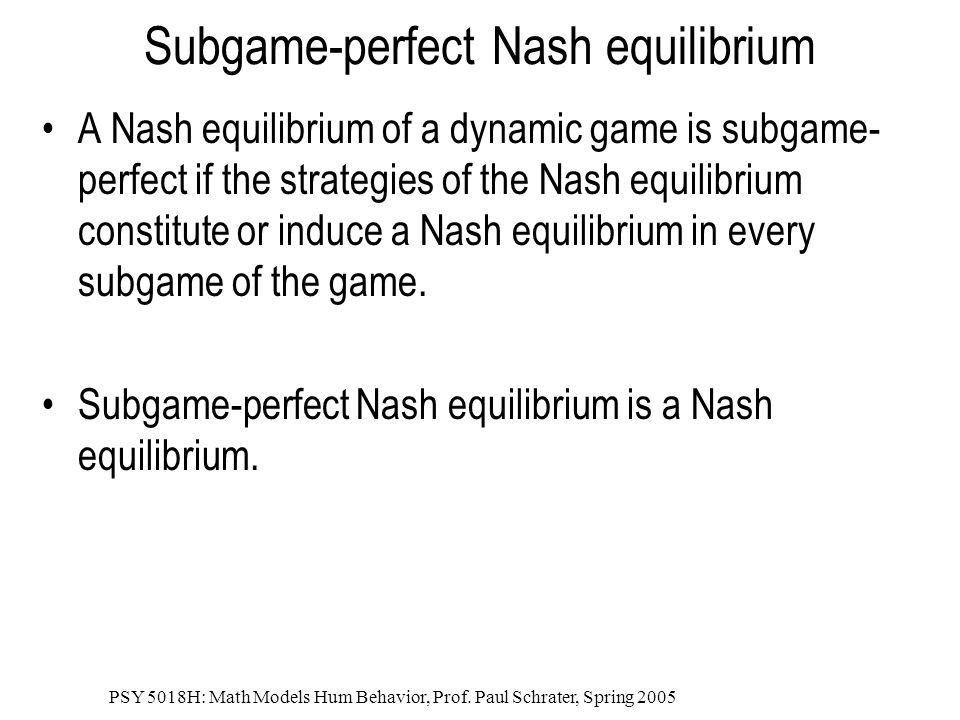 Subgame-perfect Nash equilibrium