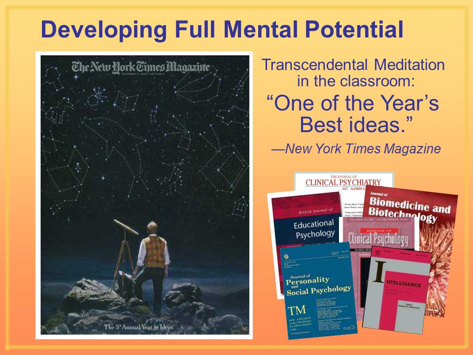 Developing Full Mental Potential