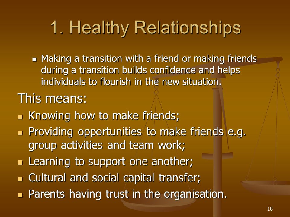 1. Healthy Relationships
