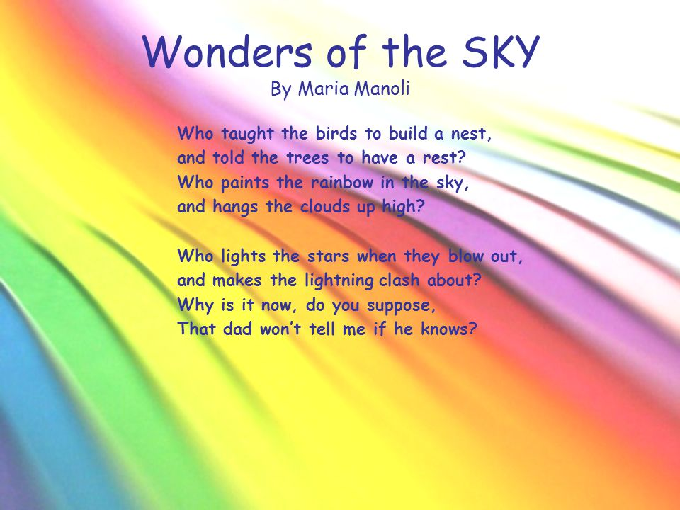 Wonders of the SKY By Maria Manoli
