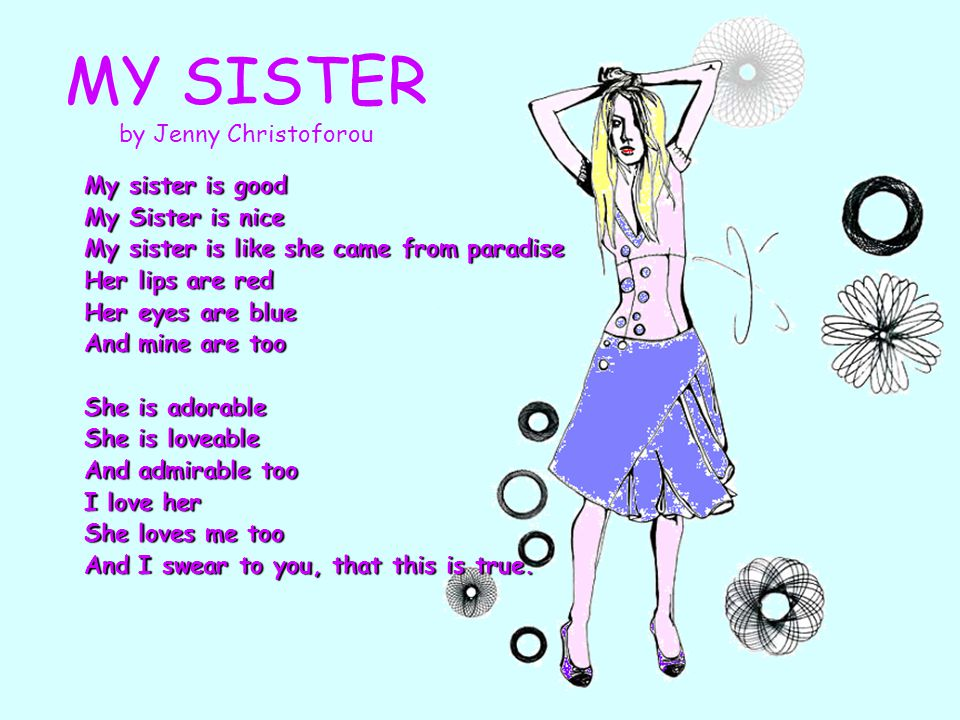 MY SISTER by Jenny Christoforou