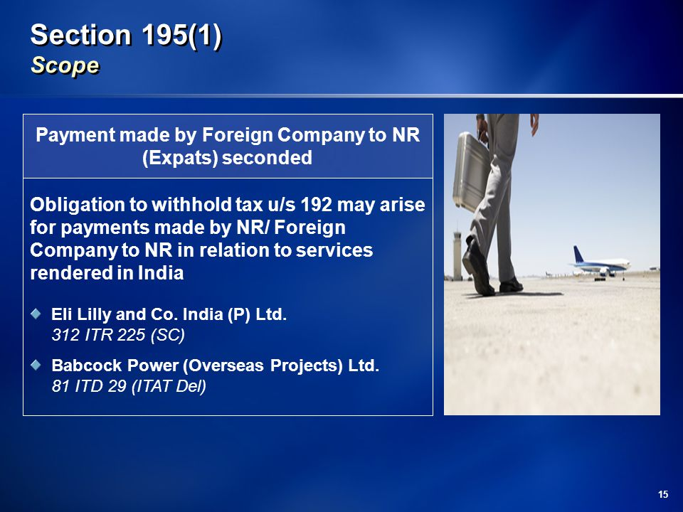 Payment made by Foreign Company to NR (Expats) seconded