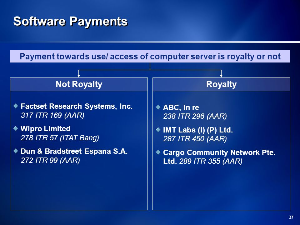 Payment towards use/ access of computer server is royalty or not