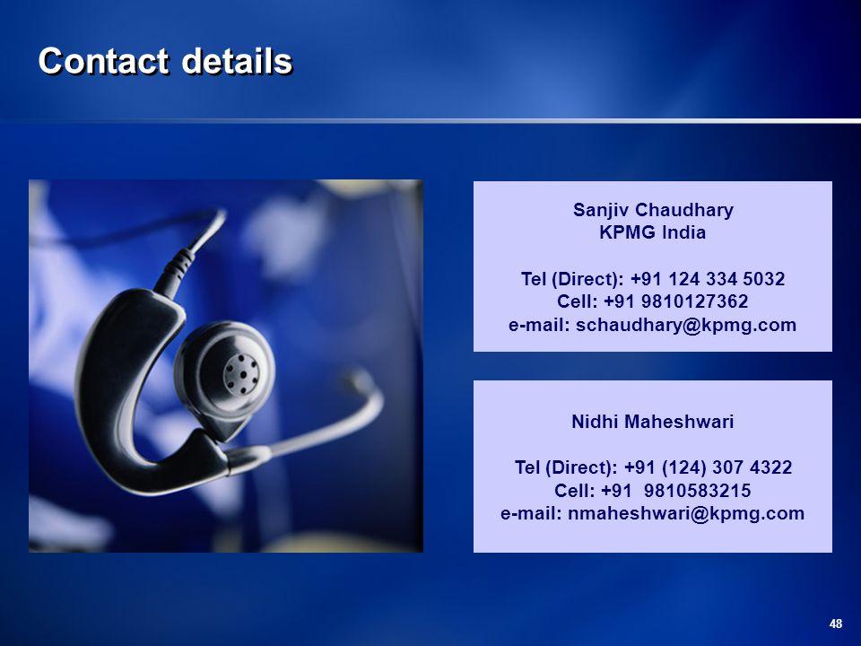 e-mail: schaudhary@kpmg.com e-mail: nmaheshwari@kpmg.com