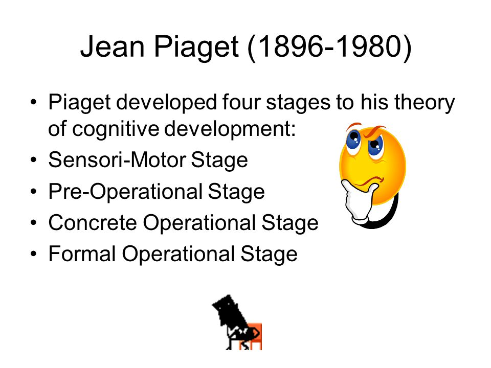 jean piaget and his theory of cognitive and affective development Jean piaget's theory of cognitive development contributed to our understanding of children's intellectual development learn about his life and theory.