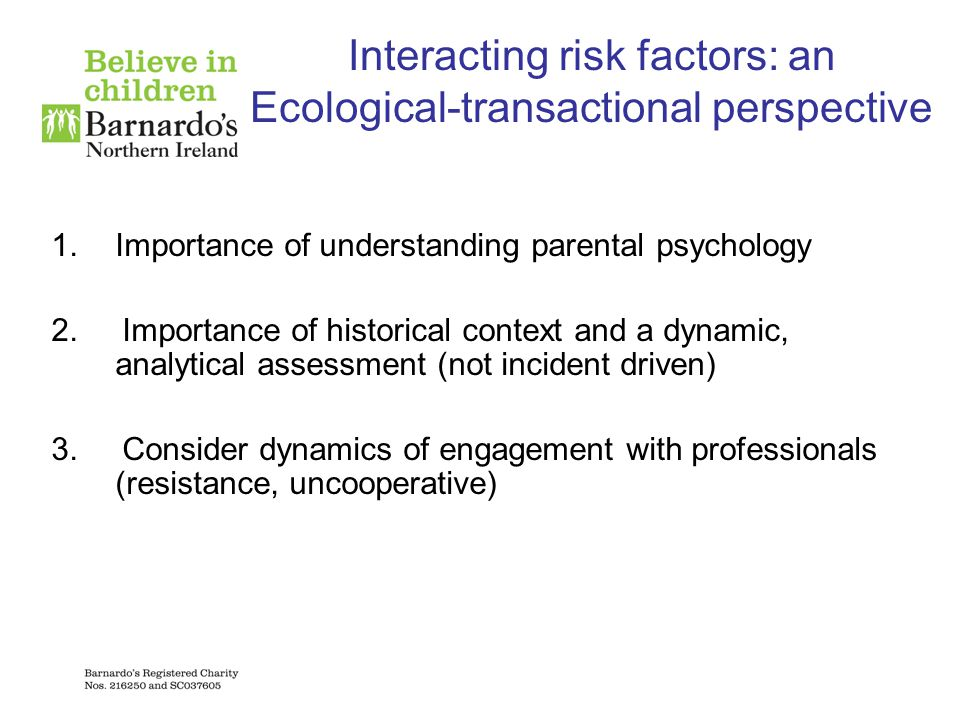 Interacting risk factors: an Ecological-transactional perspective