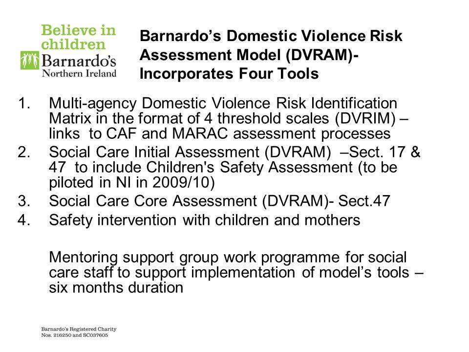 Barnardo's Domestic Violence Risk Assessment Model (DVRAM)- Incorporates Four Tools