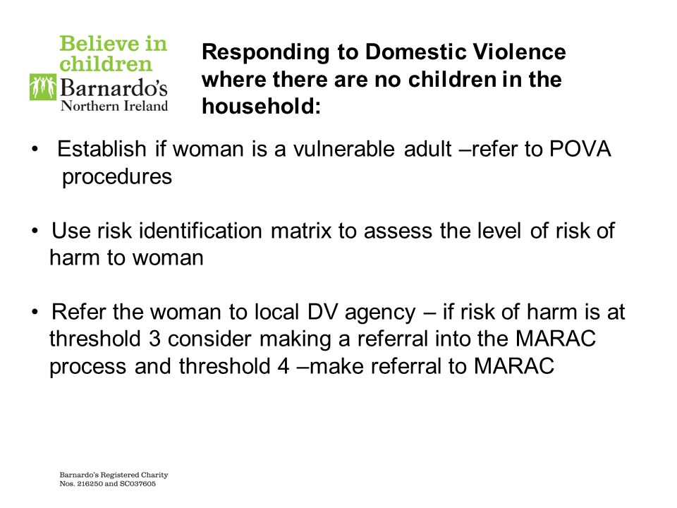 Responding to Domestic Violence where there are no children in the household: