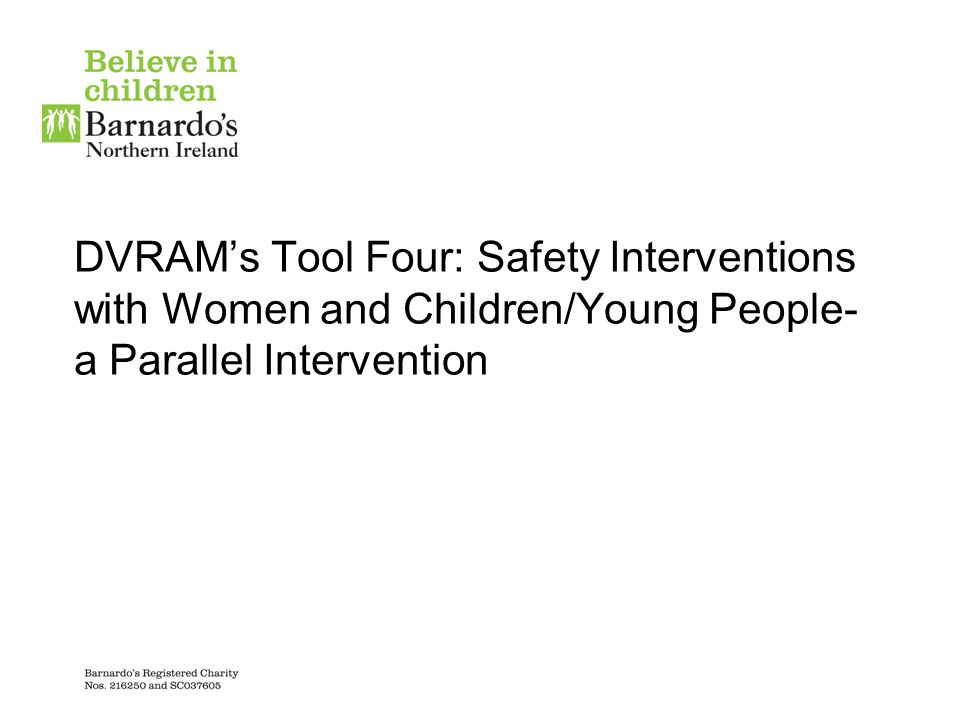 DVRAM's Tool Four: Safety Interventions with Women and Children/Young People-a Parallel Intervention