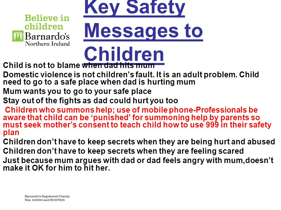 Key Safety Messages to Children